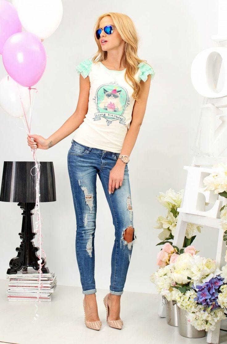 T-shirt Birthday Cat - Baronesa Fashion House