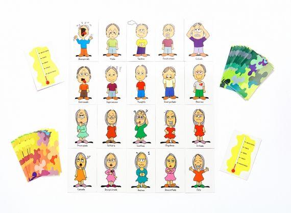 O Projeto Baralho das Emoções é na verdade um livro lançado por Marina e Renato Caminho com o propósito de ajudar crianças a acessarem suas emoções junto à Terapia Cognitiva-Comportamental. - Veja mais em: http://www.vilamulher.com.br/familia/filhos/jogo-de-baralho-ajuda-criancas-a-lidarem-com-as-emocoes-13917.html?pinterest-destaque