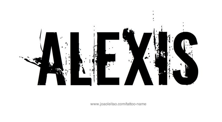 The Name Alexis In Graffiti Alexis Name Tattoo Designs