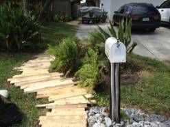 1001 Pallet Ideas #5, cheap boardwalk for camp :)