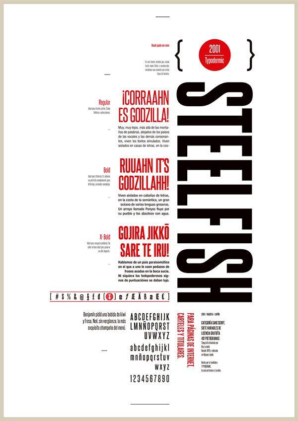 Espécimen tipográfico by Adrián Acosta, via Behance