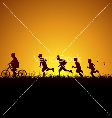 Nature and children vector 1099898 - by Seyyah on VectorStock®