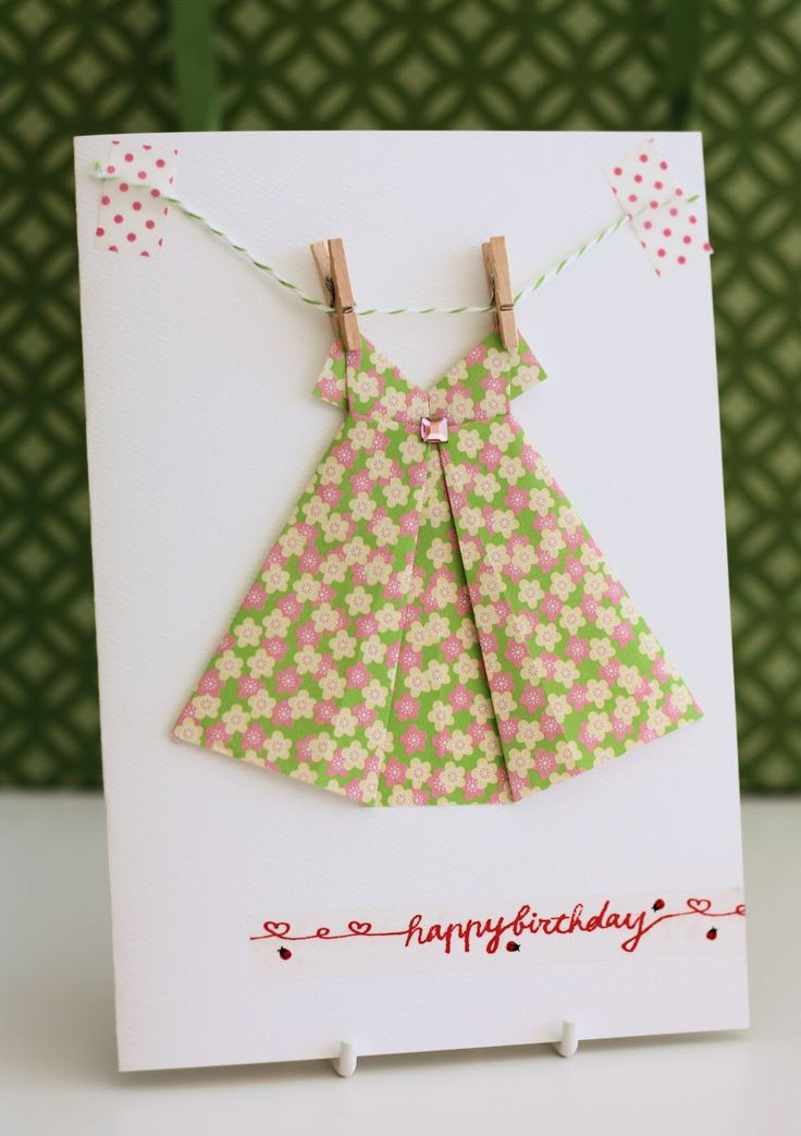 Origami Dress Card, video on making paper dress http://www.youtube.com/watch?v=qGEq5b_57DQ
