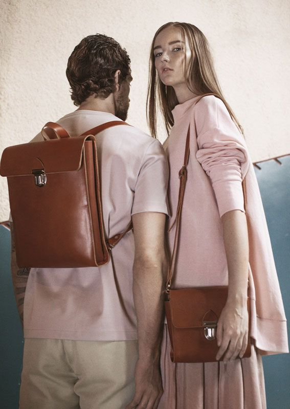 LUMI SS17 Natural Line - simple, unpretentious design that features all-natural, vegetable-tanned beige leather, with no additional bling.
