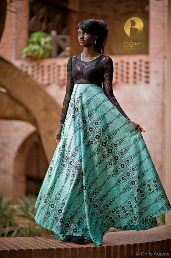 African Print Senegal Midi Dress: Bibi-from-Senegal. How Gorgeous Is This! ~Latest African