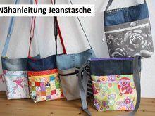 Nähanleitung Jeanstasche mit zwei Reißverschlüssen
