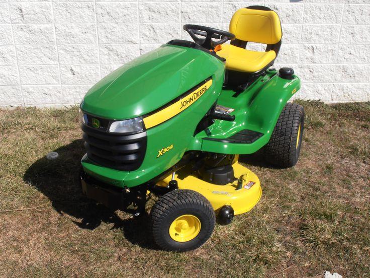 John Deere X304 Riding Lawn Mower -- Buy online at: http://www.muttonpower.com/store/p-2631-john-deere-x304-lawn-tractor.aspx