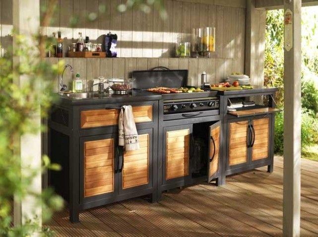 17 best images about cuisine exterieur on pinterest simple deco cuisine and chic. Black Bedroom Furniture Sets. Home Design Ideas