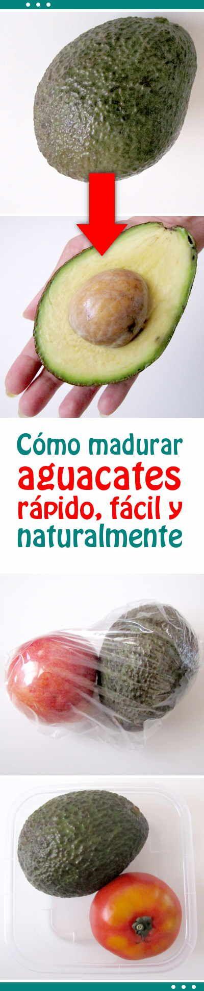 Cómo madurar aguacates rápido, fácil y naturalmente #madurar #aguacate #trucos #tips