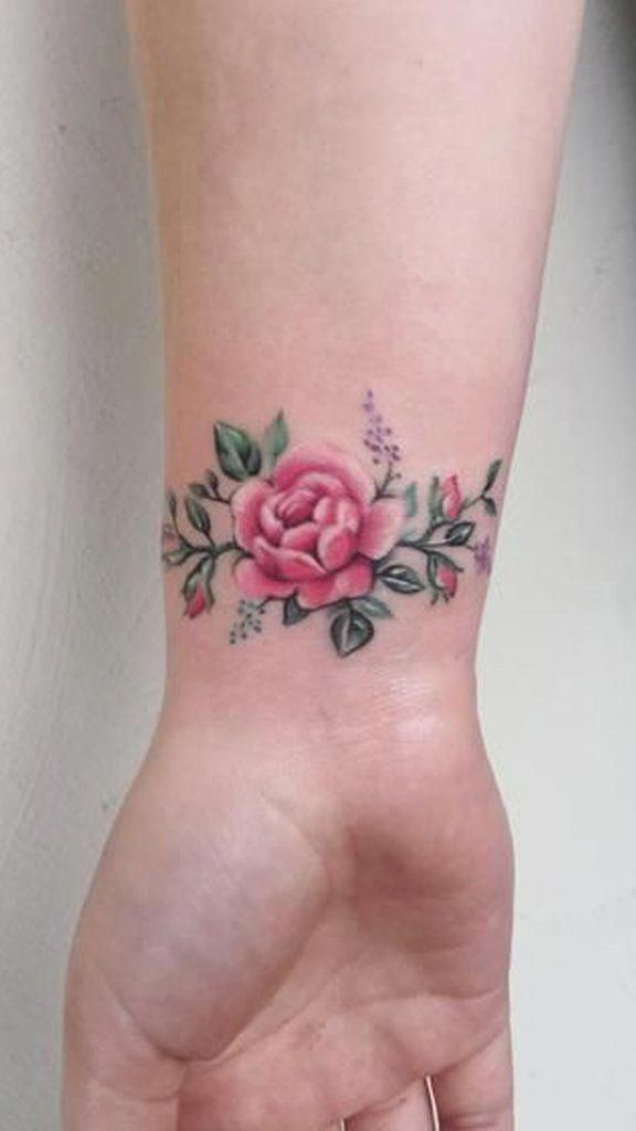 Flower Tattoo Idea Tattoos For Women Flowers Tiny Rose Tattoos Wrist Tattoos Girls