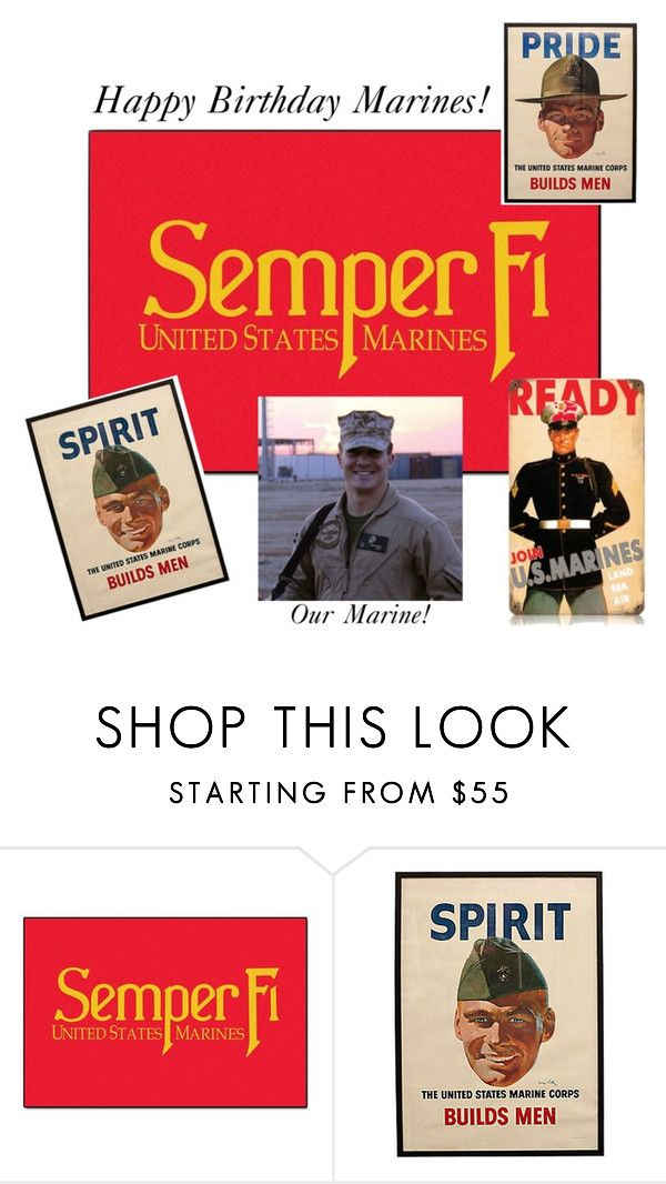 """""""Happy Bday Marine Corps"""" by burlsgurl ❤ liked on Polyvore featuring interior, interiors, interior design, home, home decor, interior decorating, FANMATS and Anthony Baratta"""
