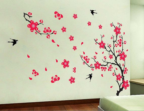 Best Wall Stickers Images On Pinterest Wall Stickers Bedroom - Wall decals in pakistanblack flowers removable wall stickers wall decals mural home art