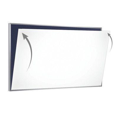 Ghent 28 Gauge Porcelain Magnetic Whiteboard Sheet/Skin Size: 4' x 6'