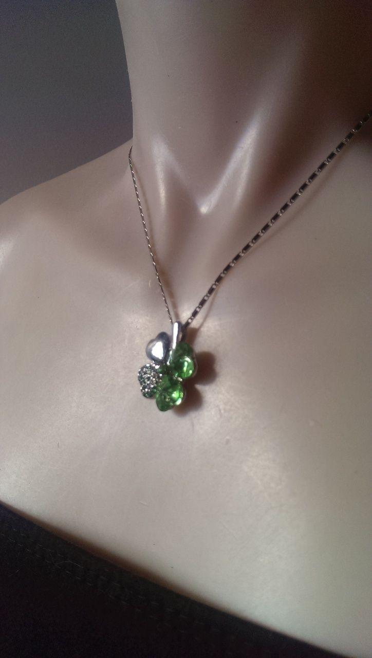 Popsie Ltd - Four leaf Clover Pendant Necklace - Emerald Green, $15.18 (http://www.popsie.co.nz/four-leaf-clover-pendant-necklace-emerald-green/)