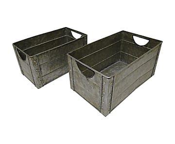 Набор из 2-х коробок - цинк - серебряный