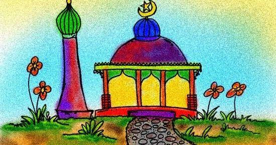 Contoh Mewarnai Masjid Www Gambar Mewarnai Com Gambar Mewarnai
