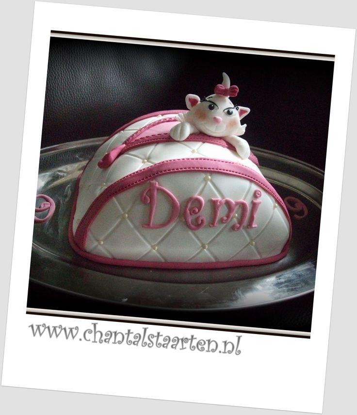 Kinder tas taart met katje