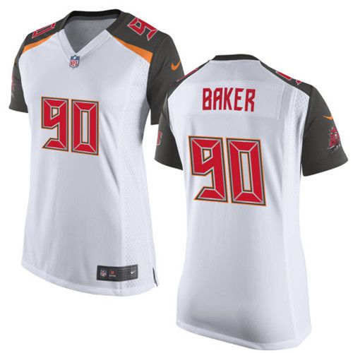 Women's Nike Tampa Bay Buccaneers #90 Chris Baker Limited White NFL Jersey