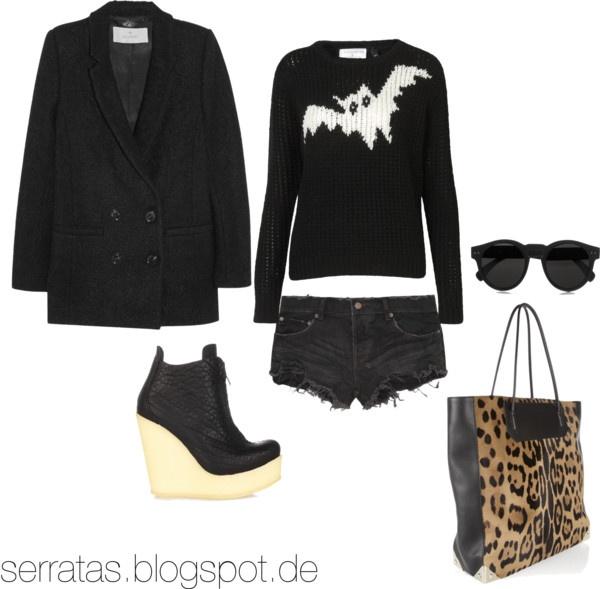 Alexander Wang baG, fashion, Illesteva sunglasses, Ksubi jeans shorts, Mulberry coat, Pedro Garcia platform shoes