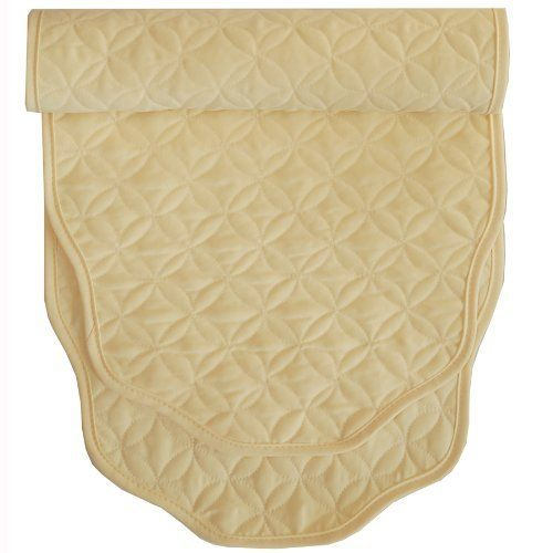 60 Inch Pastel Yellow Quilted Table Runner By Sweet Pea Linens. $15.95.  Measures Approximately