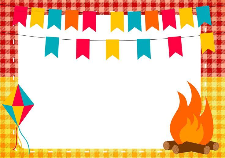 Convite Kit Festa Junina Vermelho e Amarelo