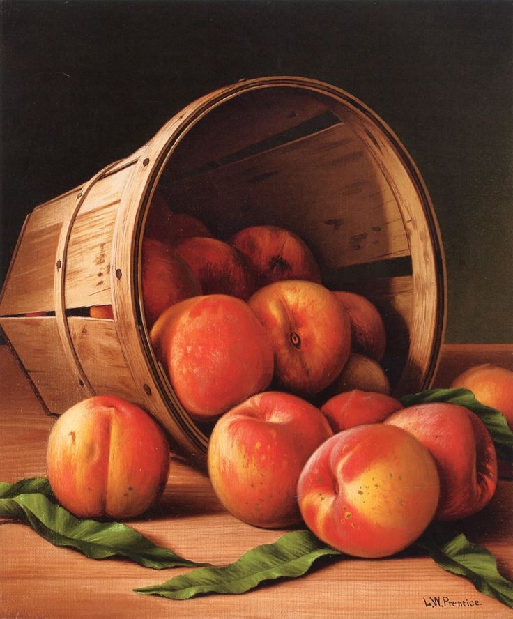 The Athenaeum - Basket of Peaches (Levi Wells Prentice - )