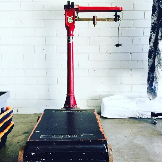 Our old scale going to good use this week 💪🏻 with all our exciting new stock…
