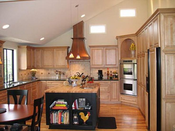 Find another beautiful images maple vaulted ceiling for Vaulted ceiling kitchen designs