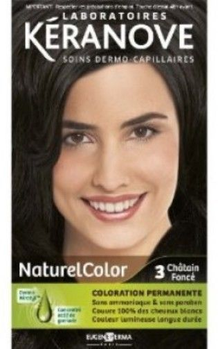 coloration keranove naturel color n3 chatain fonce neuf - Coloration Keranove