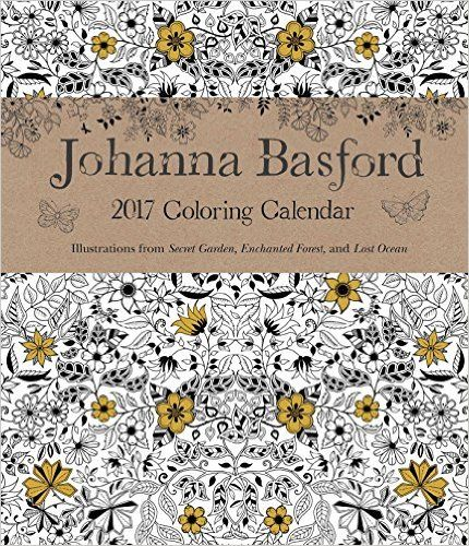 Johanna Basford 2016-2017 16-Month Coloring Weekly Planner Calendar ...