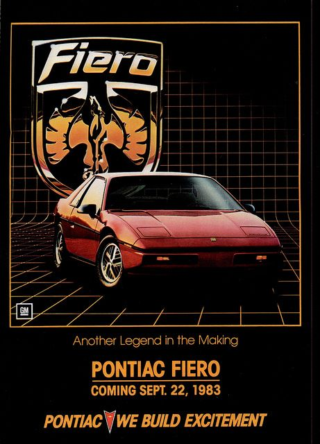 1984 Pontiac Fiero (USA) - wasn't in to it just yet...?!?