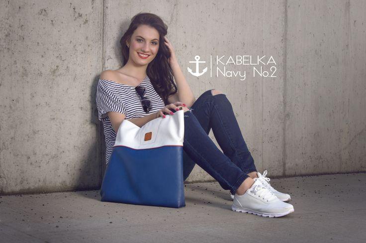Navy collection of handbags. www.hana-binarova.webnode.cz