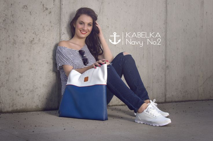 Navy collection of handbags. www.hana-binarova.webnode.cz