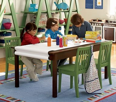 CRAFT Table For Children...paper Holder Perfect.