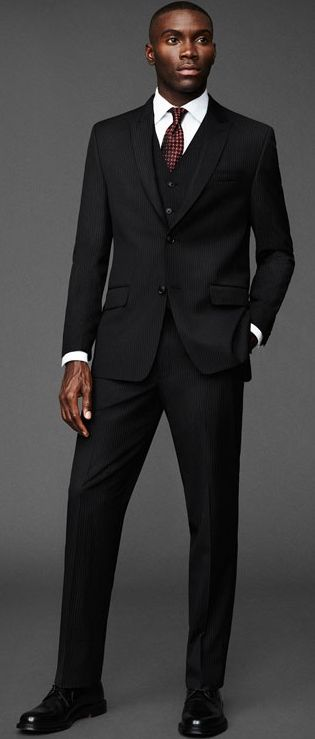 The perfect cut for all the holiday festivities. Great looking suit!