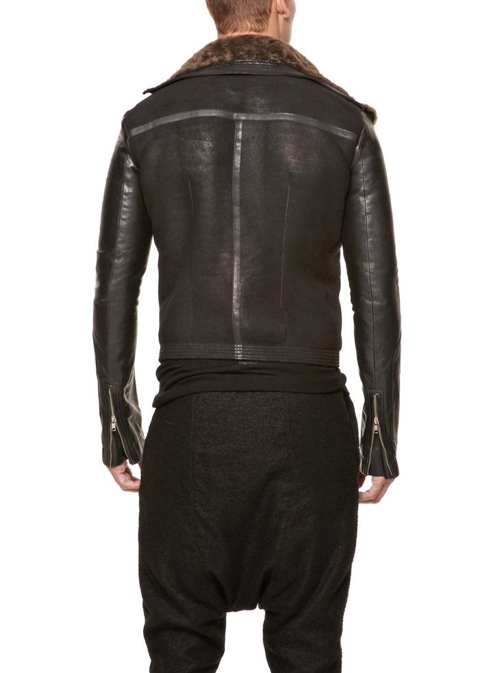 Stag Shearling Biker Jacket by Rick Owens at Gilt