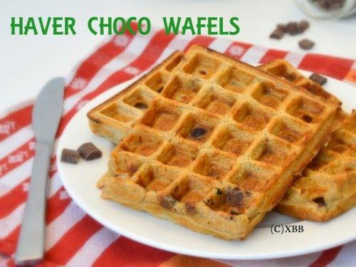 Haver choco wafels bakken / Chocolate banana oat pancakes