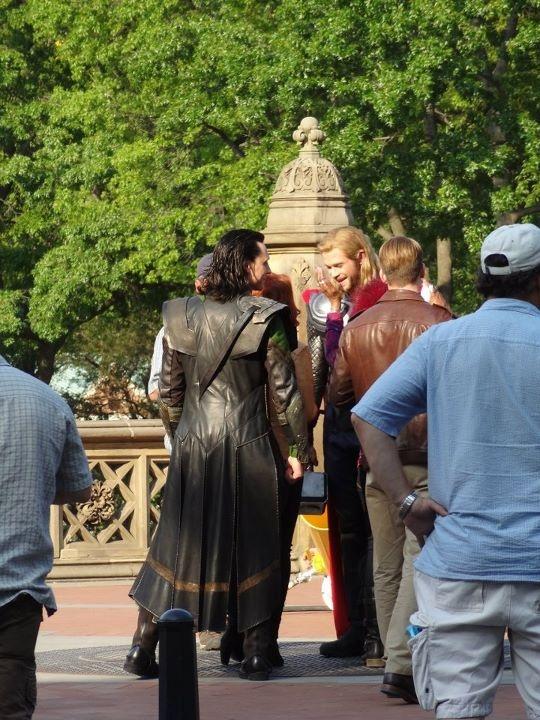 rear view of Loki's costume