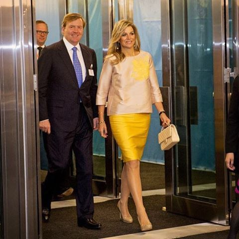 28-09-2015 Koningin Maxima en Koning Willem-Alexander in New York voor de VN.