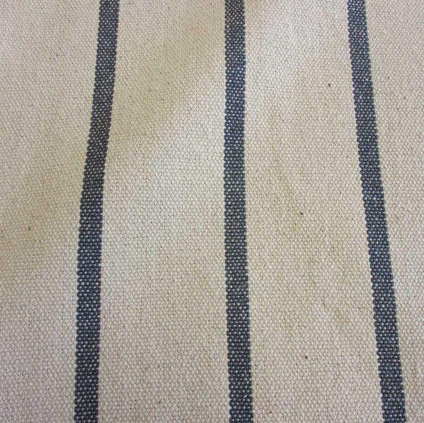 Baumwolle rein - Stoff Baumwolle natur Streifen grau Panama schwer - ein Designerstück von werthers-stoffe bei DaWanda