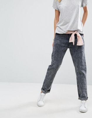 Узкие джинсы бойфренда с заниженной талией One Teaspoon Awesome Baggies