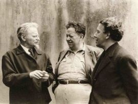 Leon Trotsky, Diego Rivera y Andre Breton