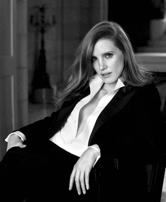 Jessica Chastain photographed by Steven Meisel for Ralph Lauren's new fragrance, Woman