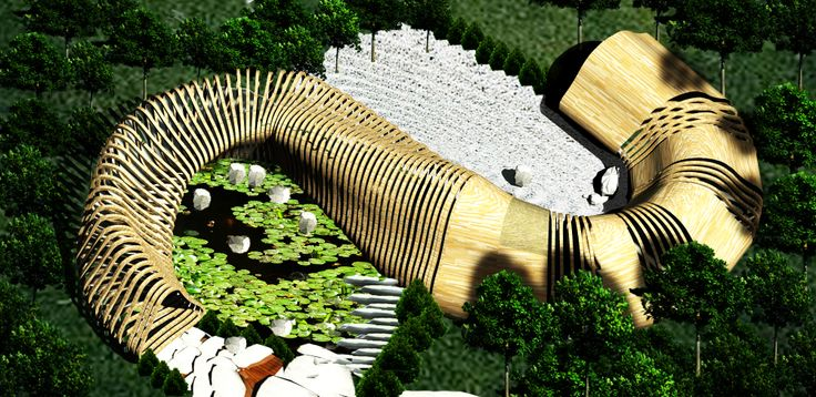 Tea house - Buddah project- arial view