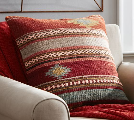 penn stripe kilim pillow cover pottery barn this is all of the colors going outdoor throw