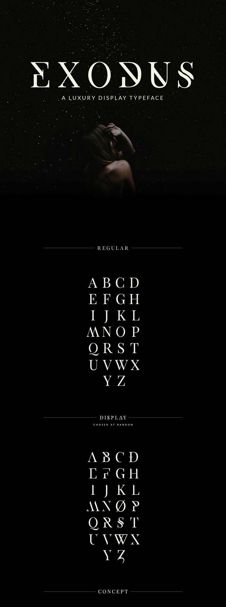Je continue le tour du monde des designers afin de trouver les meilleures typographies que vous pourrez utiliser dans vos créations. Aujourd'hui je vous propose de découvrir une création d'Andrew Herndon avec ça typo Exodus. C'est une typo dans un style luxe serif avec tout un tas de caractères…