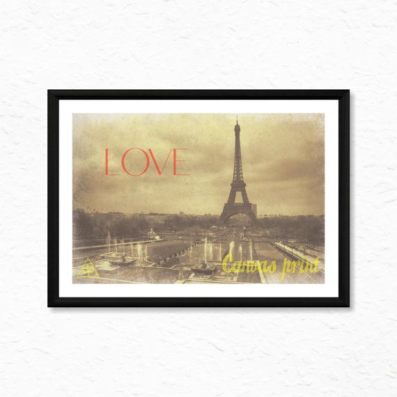 Vintage Paris Canvas Print Ready To Frame High by decalplaza, $17.99