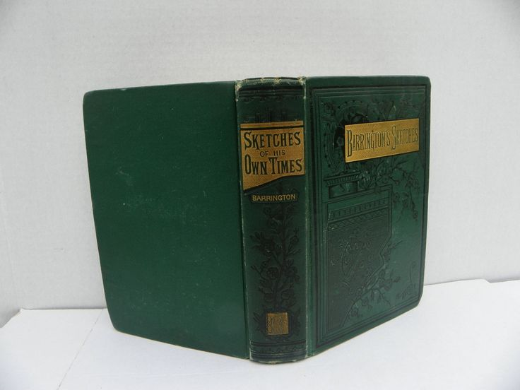 Antique Book 1880 - Barrington's Sketches - Sketches of His Own Time - Sir Jonah Barrington Personal Sketches , 1800's Irish Life , Ireland by ShersBears on Etsy