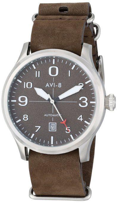 Amazon.com: AVI-8 Men's AV-4021-02 FlyBoy Analog Japanese-Automatic Brown Watch: Watches