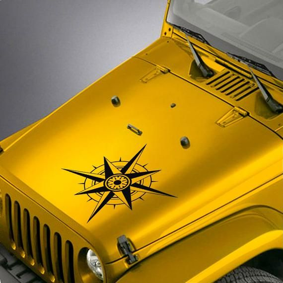 Jeep Wrangler Tj Lj Jk Jku Hood Decal Compass Sticker Jeep Wrangler Tj Wrangler Tj Jeep